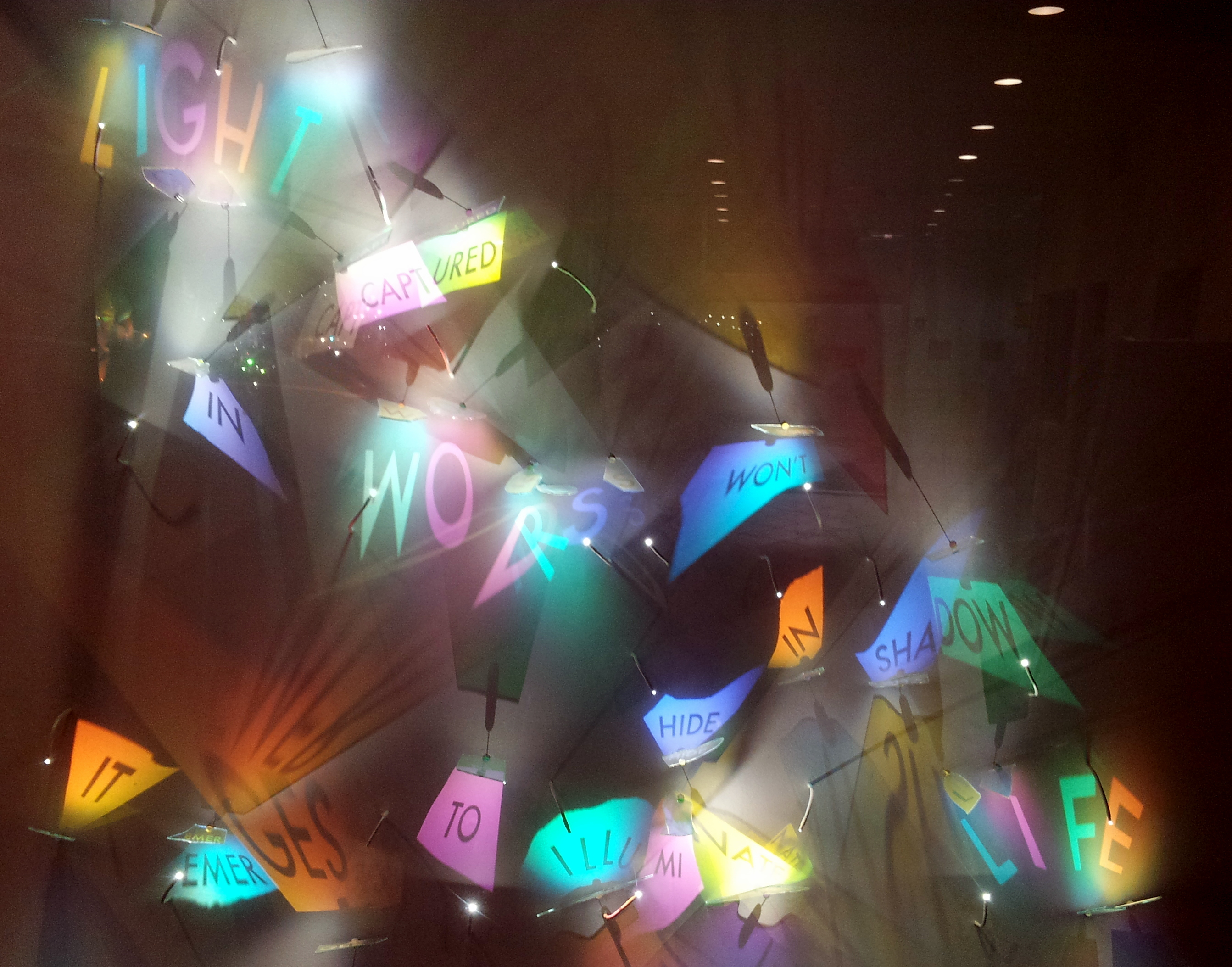 Art installation in the Indianapolis Marion County Public Library