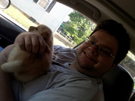 Boxy helps me bring him home